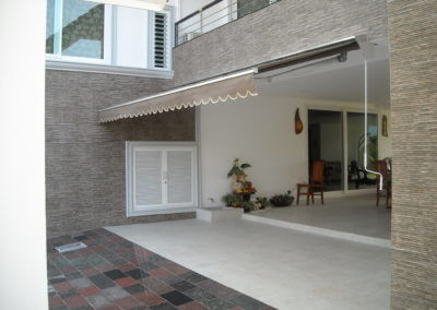 Photo of retractable awning
